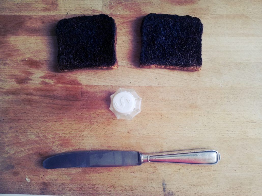 Foto Toastbrot mit Messer (09. September 2012)