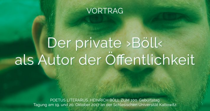 Grafik Der private ›Böll‹ als Autor der Öffentlichkeit